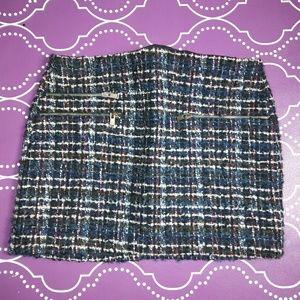 Zara woman checker mini skirt size M
